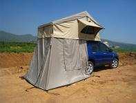 Car roof tent for a three person